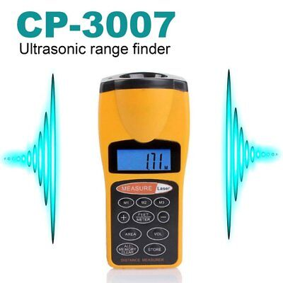 Digital LCD Ultrasonic Tape Laser Point Distance Measure Meter Range Measurer EM