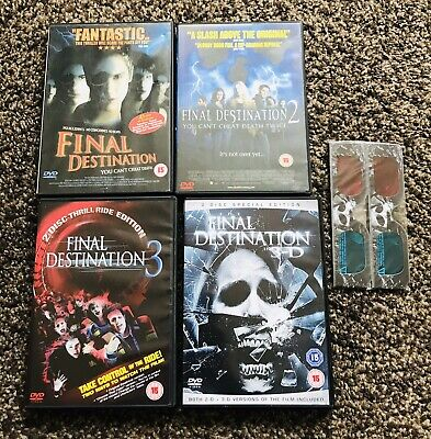 Final Destination 4 DVD Film Collection 1 2 3 4 3D Glasses