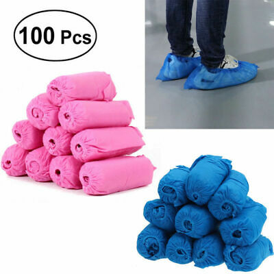 100 Disposable Anti Skid Wearable Durable Non Woven Fabric Non-slip Shoe Covers