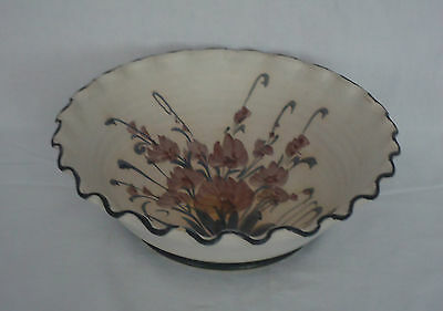 Lovely Quality Country Style Australian Pottery Large Fruit / Salad Bowl *Signed