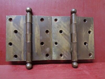 "2 Vintage 4 1/2""X 4 1/2"" Stanley Sweetheart Heavy Duty Door Hinges #02"