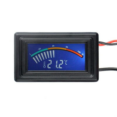Digital Thermometer LCD Meter Gauge Detector PC Car Mod C/F Molex Panel Mount DT