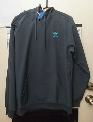 Adidas softshell pullover hoodie wind water resistant climaproof jacket