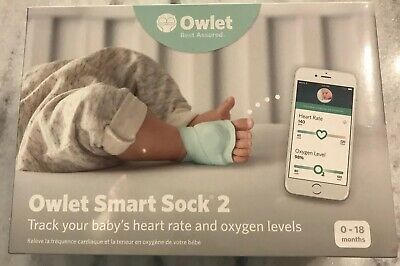 Owlet Smart Sock 2 - Baby Heart Rate & Oxygen Level Monitor - Brand New!