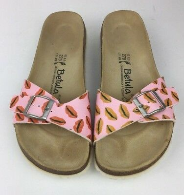 75bf38b71e6 Betula By Birkenstock Sandals Women s Strap W Buckle Pink Leather Cork Sz  ...