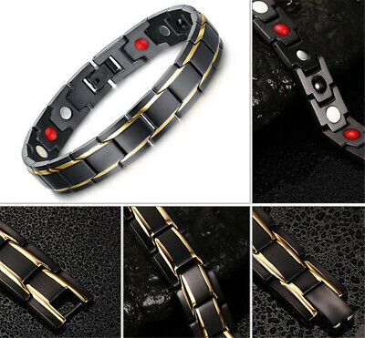 Therapeutic Energy Healing Bracelet Stainless Steel Magnetic Therapy Bracelet ML