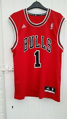 7e59327b4600 Adidas DERRICK ROSE BASKETBALL JERSEY CHICAGO BULLS MENS NBA REPLICA VEST