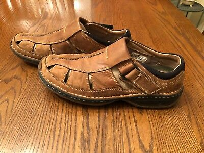f22ad68525 Timberland Altamont Fisherman Sandals Brown Leather Mens Size 11 Smart  Comfort