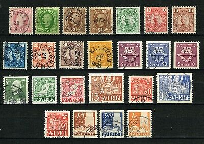 Sweden, 1886-1948, small lot