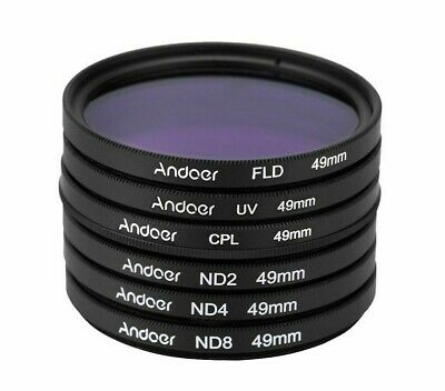 Photography Filter Kit Set UV+CPL+FLD+ND(ND2 ND4 ND8) For Nikon Canon Sony DSLRs