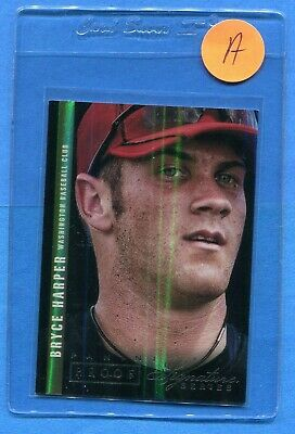 2012 Rare Panini Signature Series Silver Proof Bryce Harper Rookie Only 25 made!