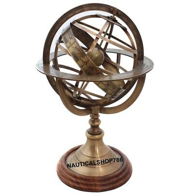 Nautical Armillary Brass Tabletop Sphere Globes Armillary 10 Inches Office Decor