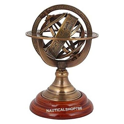 Nautical Vintage Sphere Armillary Collectible Antique World Globe 5 Inches