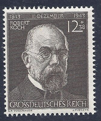 Germany Nazi Third Reich 1943 Nazi Robert Koch 12+38 Stamp MNH WW2 Era
