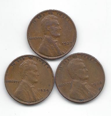 Lincoln Wheat penny 1937 1938 1939 P Wheat penny lot