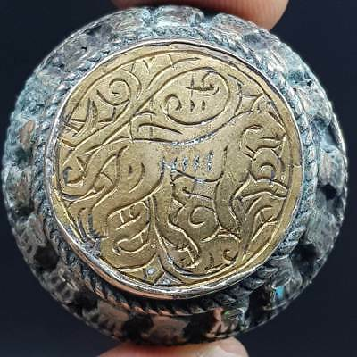 Khorasan Engraved Lion Wonderful Old Unique Ring  # 8O