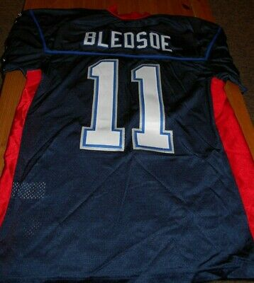 7b99fcc5 DREW BLEDSOE New England Patriots Size 50 Large Used Vintage NFL Football  Jersey