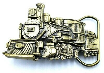 1981 Great American Belt Buckle Co. Steam Locomotive #165 Serial #H277 Train EUC