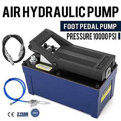 Air Powered Hydraulic Foot Pump 10,000 PSI Rubber Auto Repair Single Acting