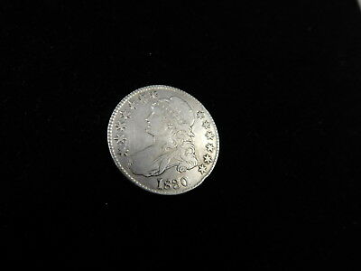 1830 Capped Bust Small Date, Silver Half Dollar