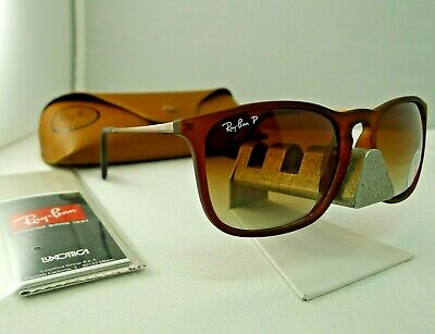 2f648ed824 Ray-Ban Rb4187 868 13 Chris Matte Brown With Brown Polarized Sunglasses New
