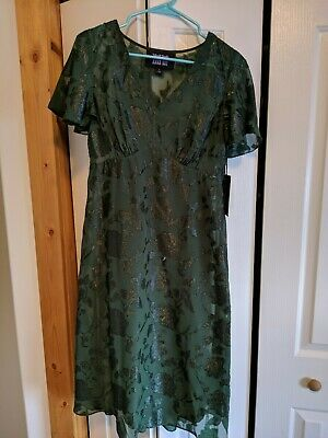 69351343c23 MODCLOTH X ANNA Sui Vision of Bliss Floral Green Dress Size 8 ...