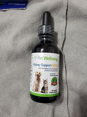 Pet Wellbeing Kidney Support Gold for Dogs - Natural Support for Canine Kidney