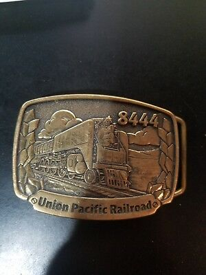 Vintage Solid Brass Union Pacific Railroad Belt Buckle Never Used