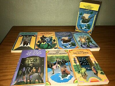 C.S. Lewis The Chronicles of Narnia boxed set with all 7 of the paperback books