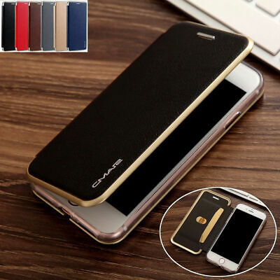 Luxury Leather Wallet Card Slim Case Magnetic Flip Cover For iPhone 6 6S 7 Plus