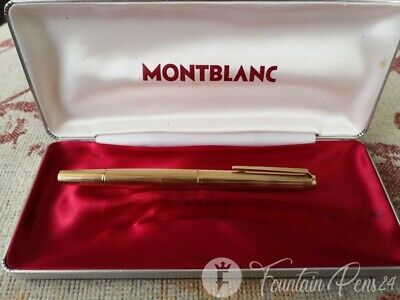 Montblanc 1246 Gold Plated Fountain Pen 18K Nib estilográfica