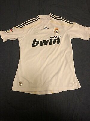 REAL MADRID 2009 2010 Jersey SMALL Adidas Original Home Shirt ... 1a1a101a3