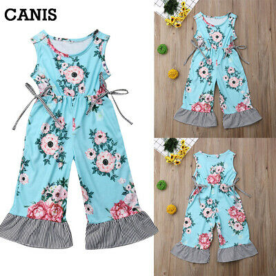 72b4c26ca15f Canis Toddler Kids Baby Girls Cotton Romper Jumpsuits Playsuit Outfits  Clothes