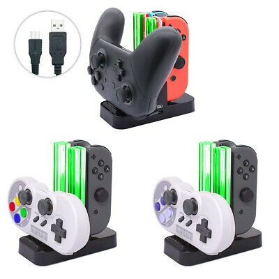 Mini 4 Port Controller Charger Charging Dock Station for Nintendo Switch Joy-Con