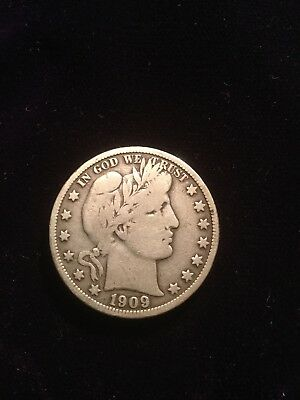1909 Silver Barber Half Dollar Fine- Over 100 Listed In My Store!