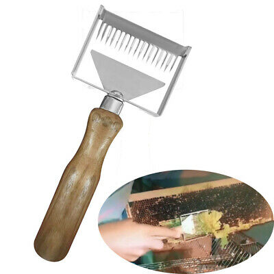 Stainless Steel Bee Hive Uncapping Honey Forks Scraper Shovel Beekeeping Tools
