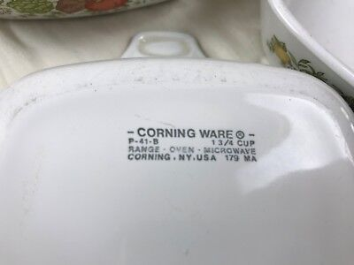 set of 3 Vintage Corning Ware P-41-B Spice of Life Casserole - 1 3/4 Cup