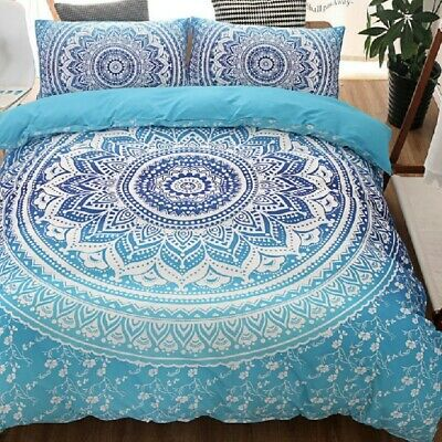 Single/KS/Double/Queen/King/Super K Soft Quilt/Duvet Cover Set-Bohemian