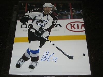 Wotjek Wolski Colorado Avalanche Signed Hockey Puck W/ Coa Sports Mem, Cards & Fan Shop