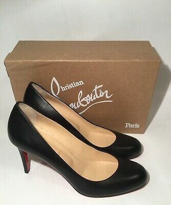 c26ffa3cc1e NEW CHRISTIAN LOUBOUTIN Simple 85mm round toe Nude Patent Red Sole ...