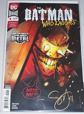 The Batman Who Laughs #1! (2018) Signed by Writer Scott Snyder! NM! COA!