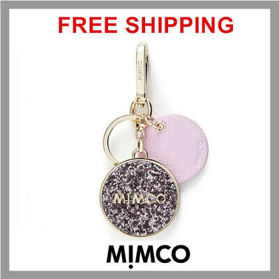 FREE SHIPPING Mimco Sublime Keyring MAUVE Authentic Gold toned BNWT DF RRP$69.95