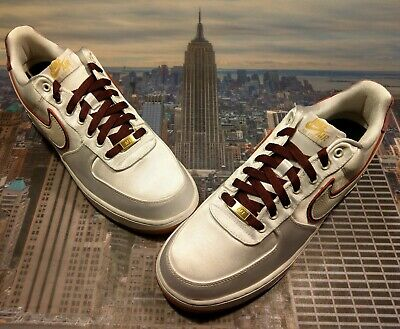 fe5072ac449264 Nike iD Air Force 1 Low x Nigel Sylvester White Satin Size 11.5 BQ3626 992  New