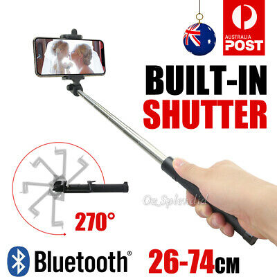 Unipod Selfie Stick Handheld Tripod Bluetooth Shutter For iPhone Samsung Note 10