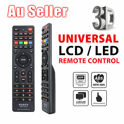 Universal LED/3D TV Remote for CHUNGHONG SKYWORTH HISENSE JVC SONIQ QT-112 AUS
