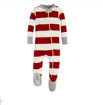 f9afe083f NEW BURTS BEES Baby Organic Cotton Rugby Stripe Sleeper Sizes 6 9M ...