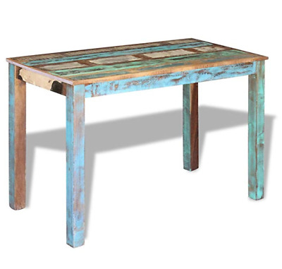 Antique Vintage Dining Table Solid Reclaimed Wood Table Printing Retro Furniture