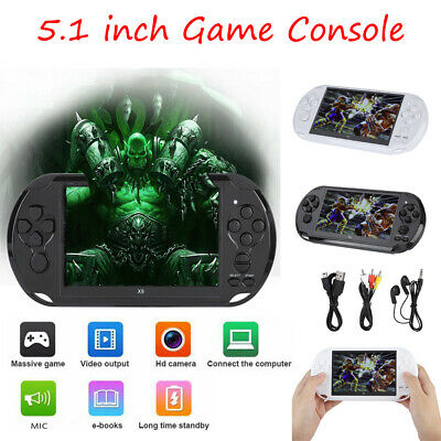 "X9 Portable 5.1"" 128 Bit Color Handheld Video Game Player Retro Console Camera"