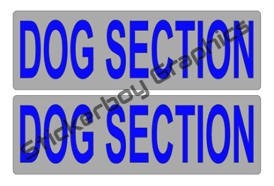 DOG SECTION Magnet K9 Handler Car Magnets Magnetic k9 Unit 460mm x 2