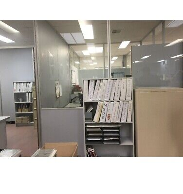 Office partition 6mm laminated windows